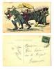WWI Russia vs. Germany Zeppelin postcard RARE