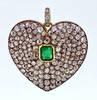 Victorian Valentine's Diamond Heart Pendant
