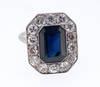 Antique Natural Burma Sapphire Diamond Ring