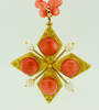 1970s ZOLOTAS 22K Gold Red Coral Necklace