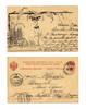 1900 Russia Poland Artist signed postcard ink