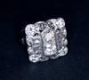 Art Deco 4 ct Diamond Platinum Cocktail Ring