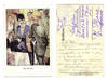 WWI Germany artist Army banquet postcard RARE