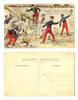 WWI France vs. Germany scarecrow postcard RR