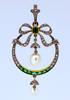 Belle Йpoque Saltwater Pearl Emerald Pendant