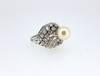 1940s Natural Saltwater Pearl Diamond Ring