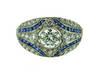 1930s Art Deco Diamond Sapphire Mosaic Ring