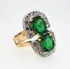 Large Kuranze Emerald Green Tsavorite Ring