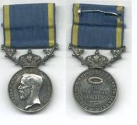 1938 Sweden Royal SILVER Service medal RARE