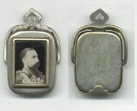 1880 Bulgaria Royal King photo medallion tag
