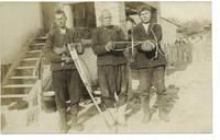 1910 Bulgaria Killer prisoner photo postcard