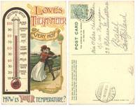 1909 British Love thermometer comic postcard