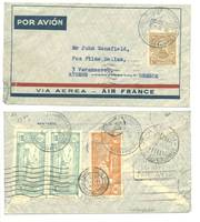 1935 Paraguay Greece 1st Airmail flight cover