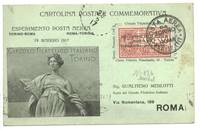 1917 Italy 1st Airmail cover postcard stamp R