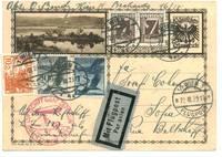1929 Zeppelin Orientfahrt Bulgaria cover N1