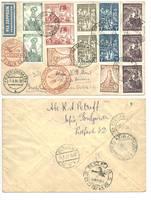 1934 Bulgaria Brazil Zeppelin Airmail cover !
