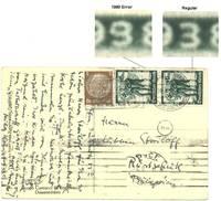 1938 Germany 1998 error postcard stamp SCARCE
