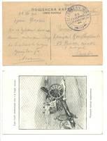 WWI Bulgaria Anti Airplane gun Unit cover N2