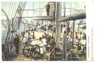 1912 Turkey Royal NAVY marine ship postcard !
