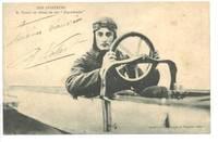 1910 France pilot VIDART postcard autograph !