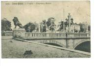 1910 Bulgaria Sofia Lion bridge postcard RARE