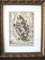 1612 SCHIAMINOSSI etching gravure MADONNA big