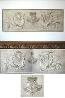 Early XVIII Italy Royal Crest etching gravure