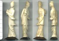 1800 China GUANYIN ivory figure sculpture RRR