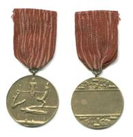 1950 Bulgaria SPORTS Gymnastics medal RARE