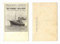 1910 German Russia SHIP travel ad postcard RR