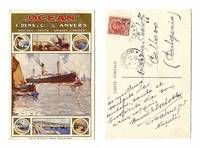 1916 OCEAN Cargo ship advertising postcard RR