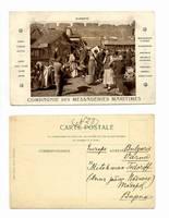 1900 French China ship advertisement postcard