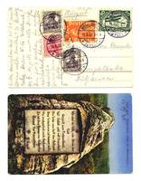 1920 Germany Bulgaria Air Mail cover postcard