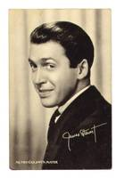 Vintage MGM Movie Star James Stewart postcard