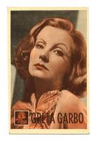 Vintage MGM Movie Star GRETA GARBO postcard R