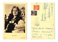 Vintage MGM Movie Star Greta Garbo postcard G