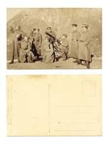 WWI Anti aircraft gun unit soldier postcard R