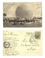1909 Bulgaria Royal BALLOON Gas unit postcard