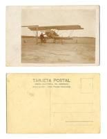 1920 Argentina Airplane pilot photo postcard