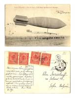 1909 France Army Zeppelin Balloon postcard RR