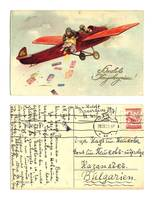 1929 Austria Aviation Greeting postcard NICE