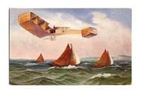 1920 Germany Artist color aviation postcard 2