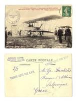 1909 France FARMAN 1st flight photo postcard