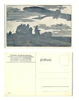 WWI Germany aviation patriotic postcard NICE