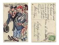 1926 Germany Zeppelin mail postcard artist RR