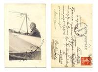 1912 Bulgaria pilot ace autograph postcard RR