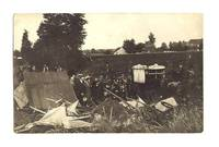 1912 France Pilot Farmer crash photo postcard