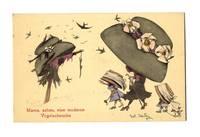 '20 Austria artist HAT fashion comic postcard