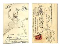1903 Russia ballet Varlamov comic postcard RR