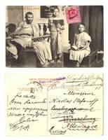 1908 Ceylon Buddhist Priest & Pupils postcard